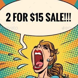 2/$15 3/$10 Closing Closet Sale Read Description